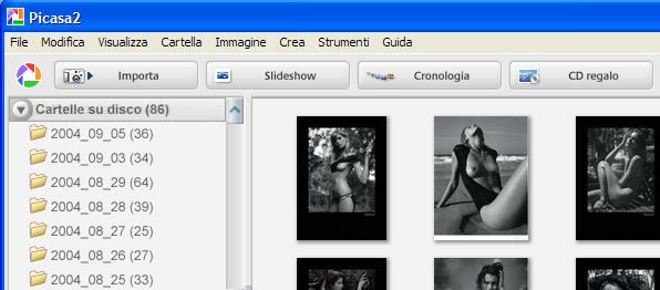 picasa Visualizzatore immagini (non solo jpg) - IrfanView, Picasa