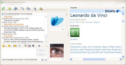 messenger-encarta Con Messenger chatto con Encarta