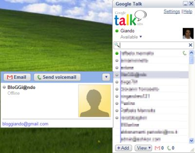 gtalk Google chatta e parla con GTalk