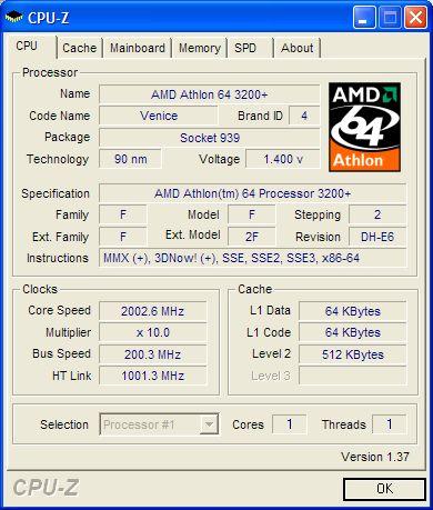 cpuz Indovina che CPU, Mainboard, Memoria ho...