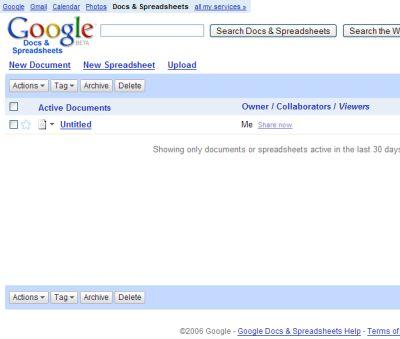 docespread Simulare Word ed Excel con Google Docs & Spreadsheets