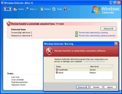 windefender Rilasciata la versione finale di Windows Defender ex AntiSpyware