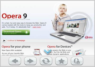 screenshot1 Browser Opera disponibile per Nintendo Wii