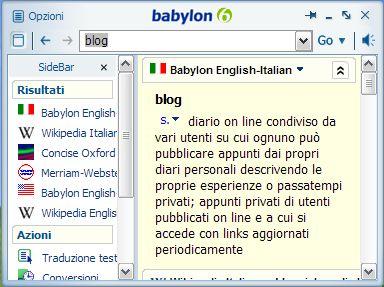 babylon Dizionario Migliorato per Babylon