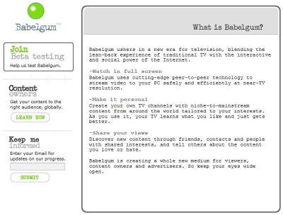 babelgum-iptv-fastweb Parte il beta testing di Babelgum, l IPTV di Fastweb