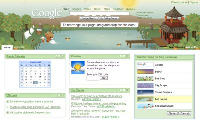 google-personalized-homepage-tema-dinamico Google Personalized Homepage con Tema Dinamico