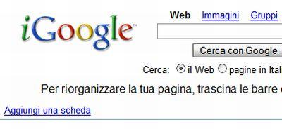 igoogle-personalizza-ricerche iGoogle: personalizzate le  vostre Ricerche