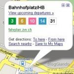 I percorsi e le fermate dei mezzi pubblici su Google Maps Mobile