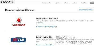 iPhone 3G è finalmente arrivato, sarà disponbile dall\'11 Luglio rivenditore Vodafone o Tim per comprare il nuovo iPhone