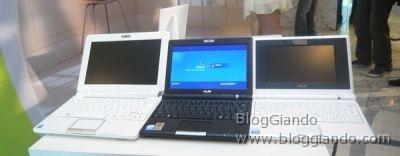 La famiglia al completo: Asus Eee PC 1000, Eee PC 901 e Eee PC 701