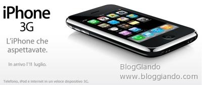 Vodafone ufficializza il prezzo dell\' iPhone 3G: 499 Euro la versione base