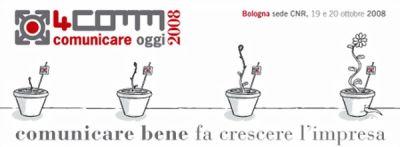 4comm2008bolognaottobrecnr4commtech4comics4commadv 4comm2008: per due giorni Comunicazione e Creatività si danno appuntamento a Bologna