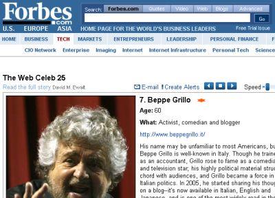 ecco-le-25-star-del-web-secondo-forbes-beppe-grillo-settimo Ecco le 25 Star del Web secondo Forbes: Beppe Grillo settimo