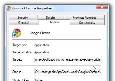 userscripts2 Google Chrome aggiunge il supporto per gli User Scripts