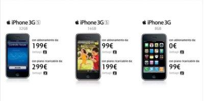 Ed ecco le offerte di 3Italia  per l' iPhone 3GS e 3G