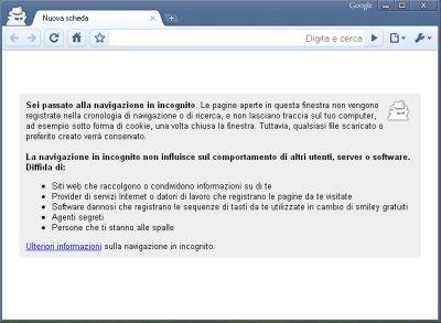 Navigare in incognito con google chrome - Finestra in incognito ...