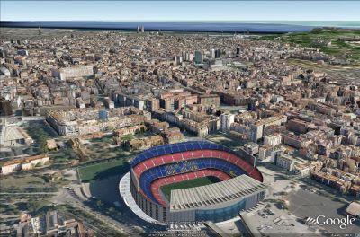 Google Earth disponibile Barcellona in 3D